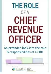 The Role of Chief Revenue Officer CRO
